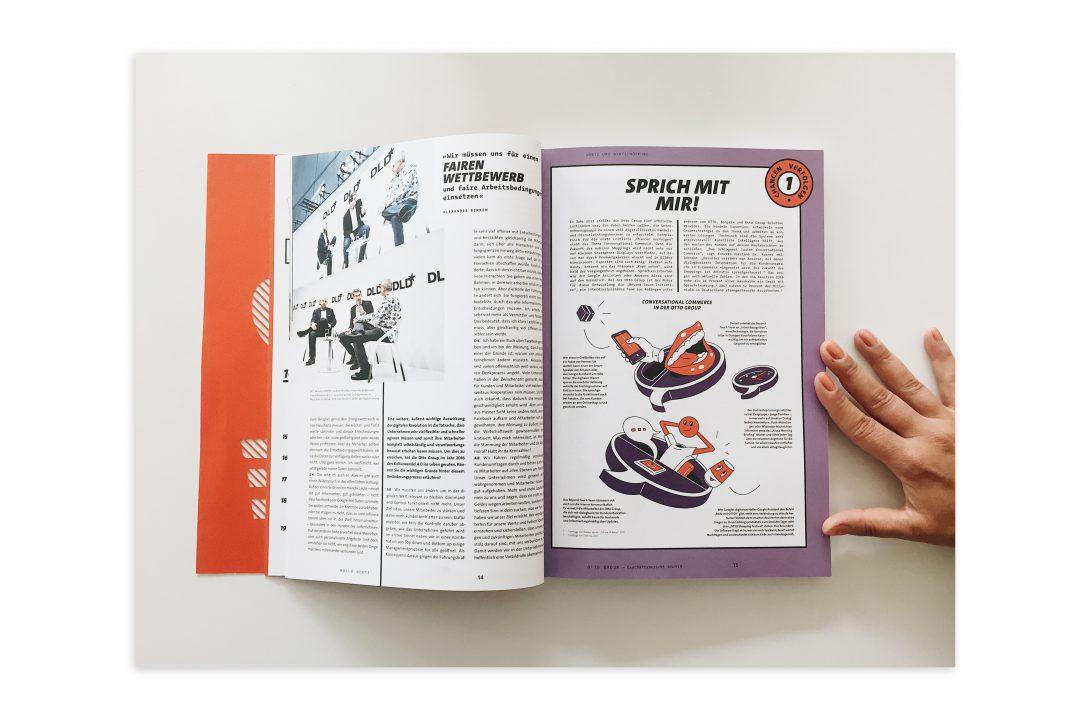 Geschaeftsbericht Editorial Design Innenseiten