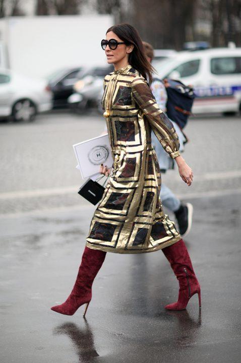 Kleid gold Fashion Streetstyle