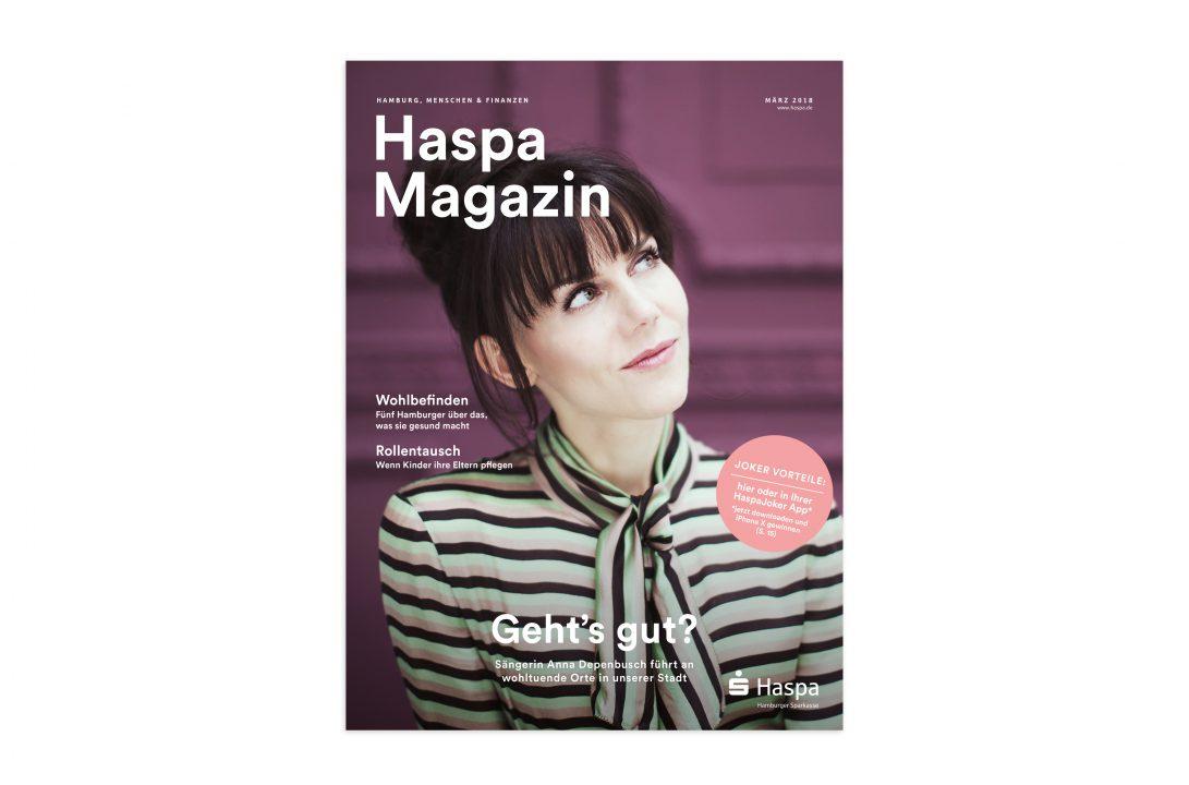 Anja Depenbusch Haspa Magazin