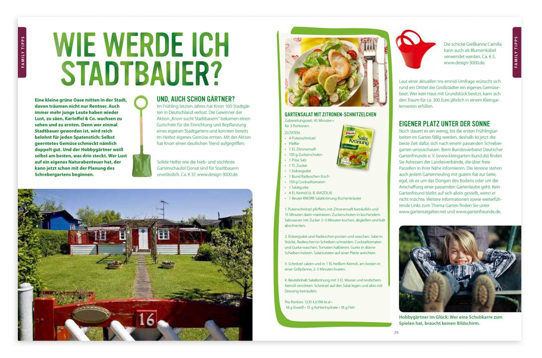Knorr Family Editorialdesign