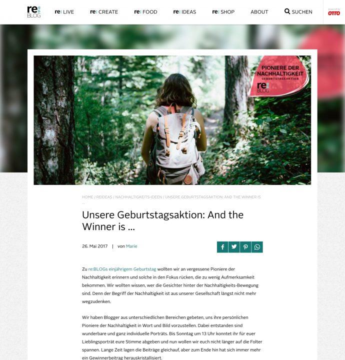 reBLOG OTTO Blogpost Beispiel