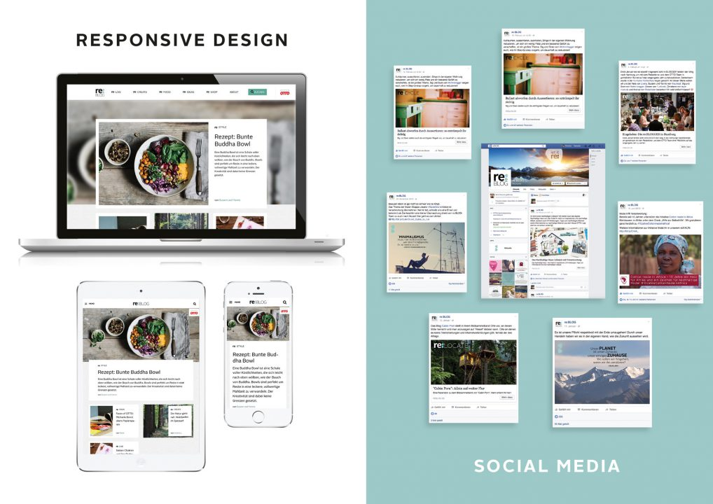reBLOG von OTTO - Responsive-Design und Social-Media-Kanäle