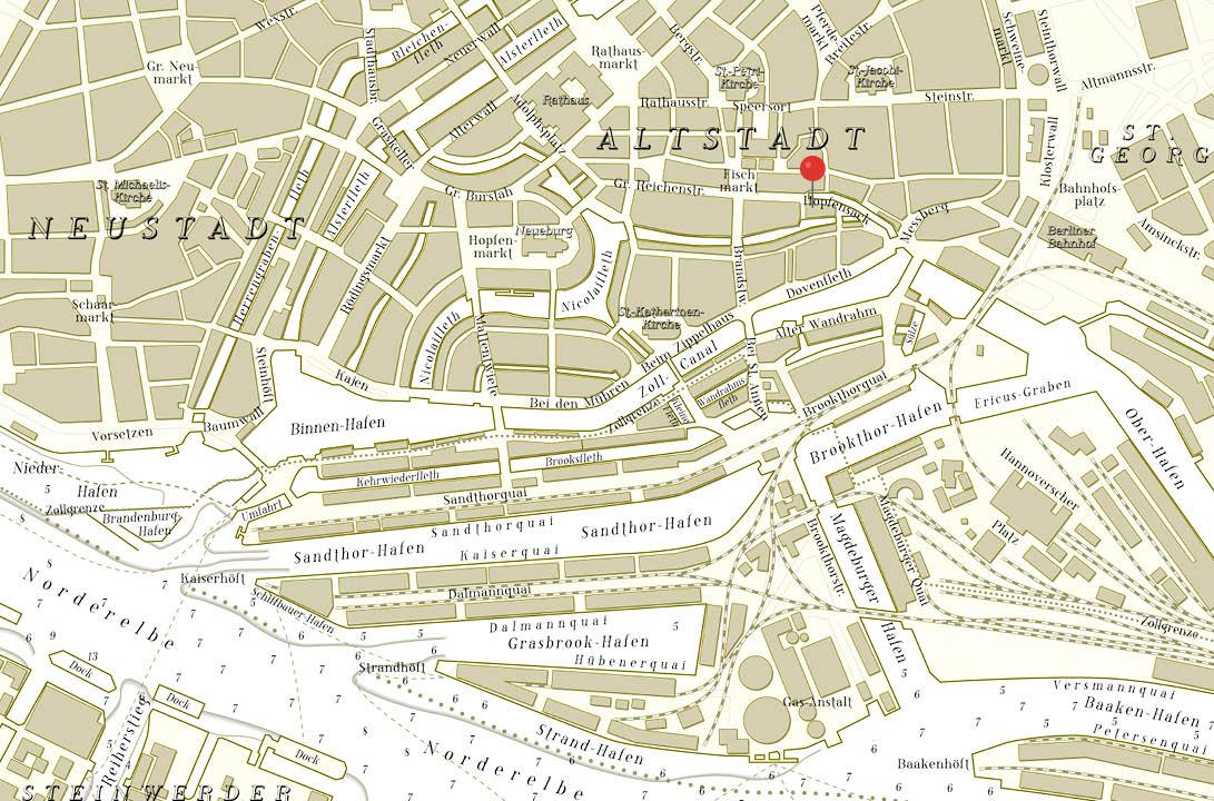 Seekarte Companions Hamburg