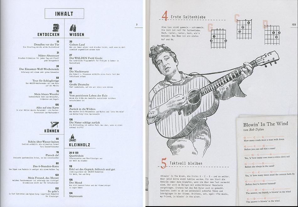 Inhaltsverzeichnis des Walden Magazins