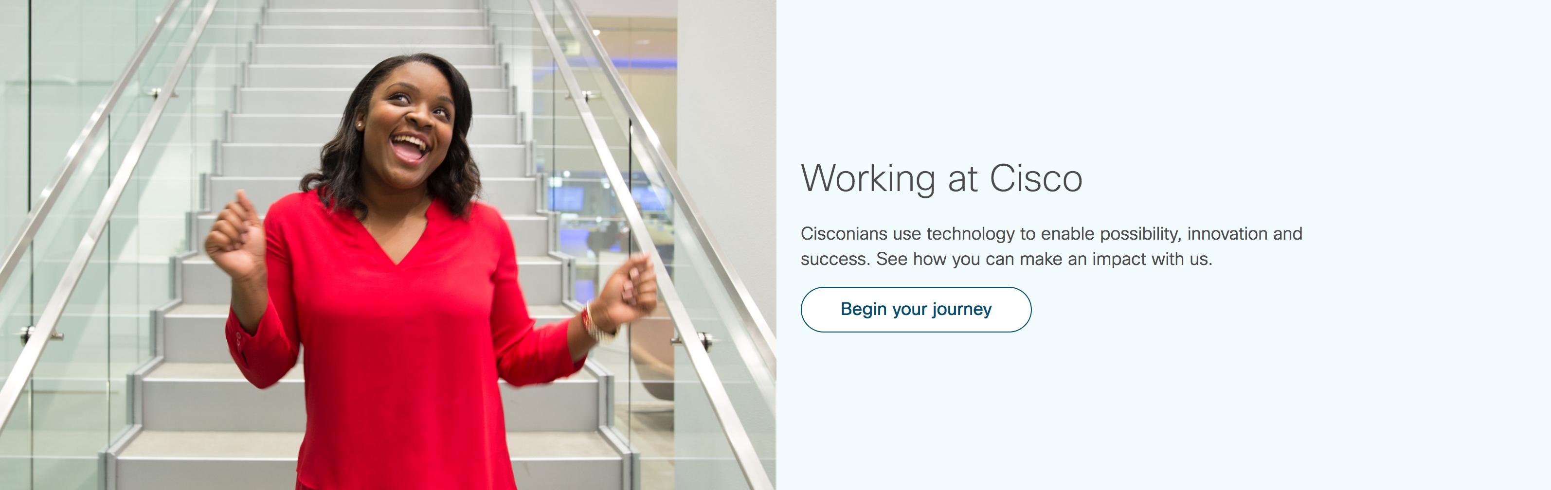 Euphorisierte Cisco Mitarbeiterin